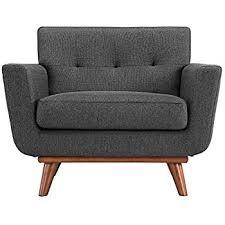 armchair modern amazon com modway engage mid century modern upholstered fabric