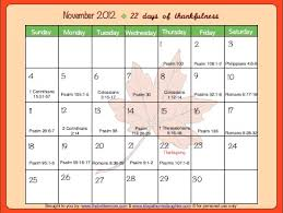 free thankfulness calendar printable the better