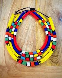 etsy beads necklace images Assorted traditional zulu beaded necklace by zulubeads on etsy jpg