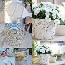 How To Make Planters by How To Make A Rock Covered Bucket Planter Pictures Photos And