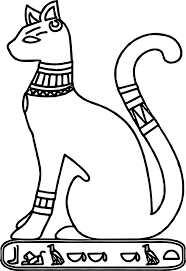 ancient egypt cat coloring page wecoloringpage