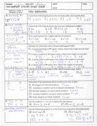 real number system unit study guide cornell notes pdf by math with