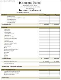 simple profit and loss statement template examples