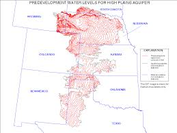 A Map Of Colorado by Digital Map Of Predevelopment Water Levels For The High Plains