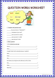question words worksheet worksheet free esl printable worksheets