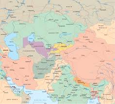 Asia Map Blank by Central Asia Political Map