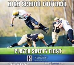 Meme Football - school football safety meme