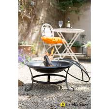 la hacienda albion steel fire bowl black at wilko com