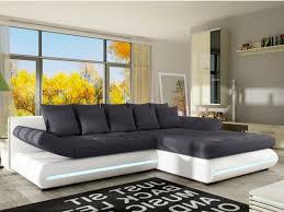canapé d angle gris et noir canapé angle convertible tissu simili blanc noir mattias