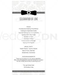formal wedding programs printable formal wedding program templates