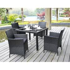 Metal Outdoor Dining Chairs Patio Furniture Efb4eb560ae3 1 Black Metal Patio Dining Table