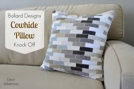 Cowhide Pillows Knock Off Ballard Designs Cowhide Pillow Decor Adventures