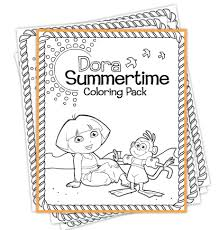 nick jr dora printable coloring pages free dora coloring page printables from nick jr