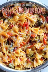 cuisine facile et rapide pates aux poivrons gratin de pates les gratins et le poivron