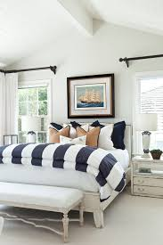 beach style bedrooms nautical bedding for beach style bedroom with blue and white regard
