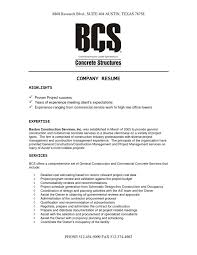Construction Resume Template Company Resume Examples General Manager Resume Sample Page 2