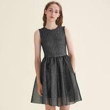 sleeveless dress rider tulle and lurex sleeveless dress dresses maje