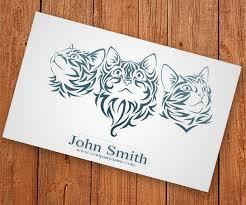 cat business card unique business cards