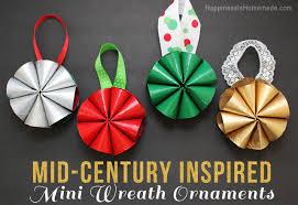 mid century inspired mini wreath ornaments happiness