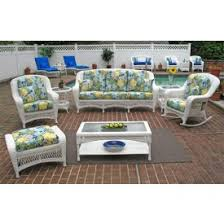 Palm Springs Outdoor Furniture by Wicker White Palm Springs Sofa And Loveseat Collections Wicker