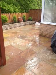 Patio Edging Stones by Indian Sandstone Paving Design Your Sand Stone Patio Leigh