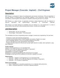 career objective in resume for civil engineer groupe conseil sct inc careers project manager
