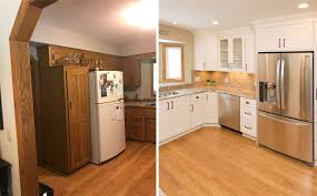 how to update honey oak kitchen cabinets updating oak cabinets doors floors trim living with