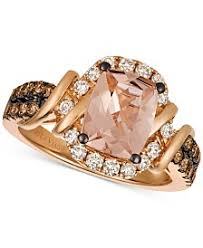 gold and morganite ring morganite rings macy s