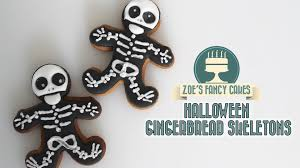 halloween skeleton cookie using royal icing youtube