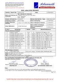 soil report sample amrit mitti soil analysis report in detail