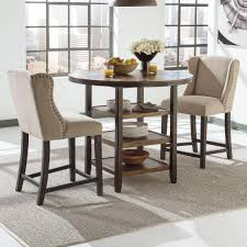 copper top dining room tables kitchen 1 3 piece breakfast table set bewildering on modern home