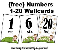 free printable number flashcards 1 20 free number wallcards and flashcards