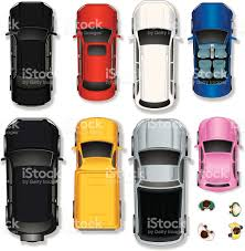 vehicle top view top view abstract cars stock vector art 153856334 istock
