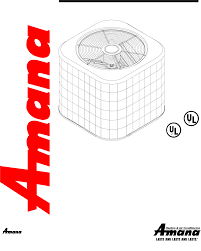 amana air conditioner remote condensing unit user guide