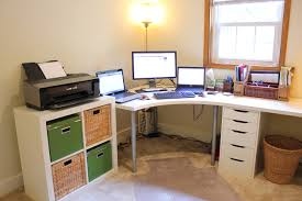 white l shaped desk home painting ideas