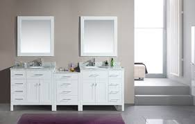 Real Wood Bathroom Cabinets by Double Rectangle White Solid Wood Bathroom Vanity Cabinet Under