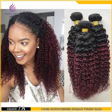 ombre hair weave african american 7a unprocessed malaysia weaving bundle 3 pieces lot afro two tone
