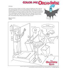 avoid eating too much candy on halloween coloring page
