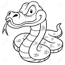 snake clipart coloring pencil and in color snake clipart coloring