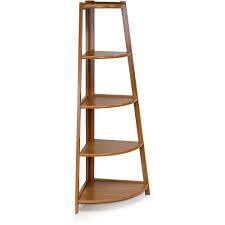 How To Make A Corner Bookshelf Furniture Ladder Shelf Slanted Bookshelf U201a Wooden Ladder Shelf