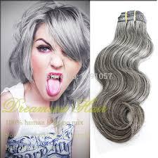 human hair in salt and pepper wholesale brazilian human gray hair weave for white women 3pcs lot
