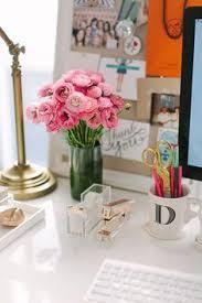 Chic Desk Accessories by Home Office Workspace Shelf Styling Desk Pinterest
