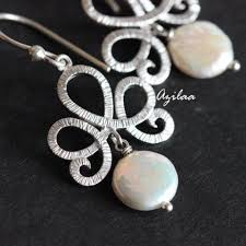 dangler earrings pearl dangler earrings modern earrings for women in india azilaa