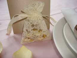 lace favor bags lace favour bag ivory chair cover hire essex