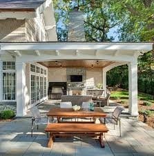 Backyard Covered Patio Ideas Carman Bay Cottage Lake Minnetonka Traditional Patio