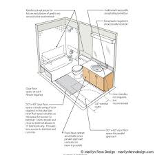 Bathroom Blueprint Illustration Portfolio Of Marilyn Fenn Artist As Designer