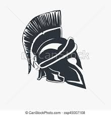 vector clipart of spartan warrior helmet spartan helmet logo