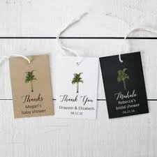 Baby Shower Favor Messages - palm tree beach wedding favor tag bridal baby shower gift tag