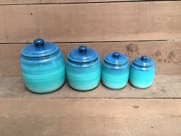 Funky Kitchen Canisters One Turquoise ómbre Kitchen Canister Ombre Gradient Shades