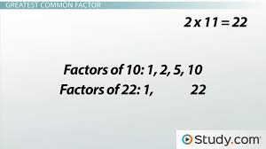 how to find the greatest common factor video u0026 lesson transcript